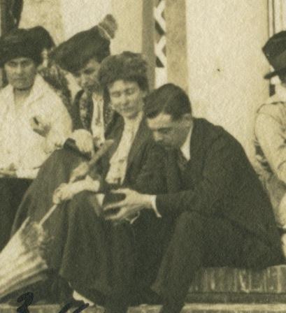 Caroline Phillips and Eleanor Roosevelt in 1915 in California
